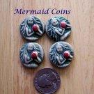4 Pottery Art*  Embellishments ~*MERMAID COINS ~Mosaic