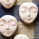 Mosaic Tiles *~UNIQUE FACES any COLOR~*  2 HM Pottery