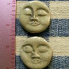 Mosaic Tiles ~*OLIVE GREEN FACES*~ 2 HM Clay Kiln Fired
