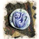 Handmade Pottery Ceramic *~WATER LILY MERMAID~ Pendant