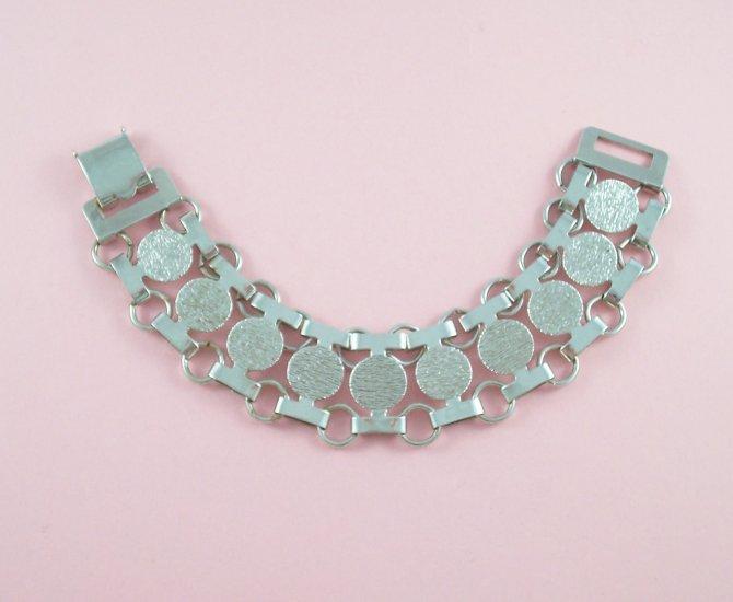 Vintage Sarah Coventry Silver Tone Link Bracelet Mod 60�s Style