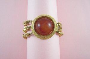 Vintage Bakelite Cabochon Bracelet Multi Strand Paperclip Chain
