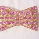 Large Vintage Juliana DeLizza and Elster Pink Rhinestone Belt Sash Buckle