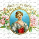 Vintage American Rose Digital Cigar Box Art Ephemera Scrapbooking Altered Art
