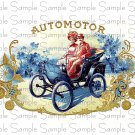 Vintage AutoMotor Digital Cigar Box Art Ephemera Scrapbooking Altered Art