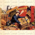 Vintage Baggage Master Digital Cigar Box Art Ephemera Scrapbooking Altered Art