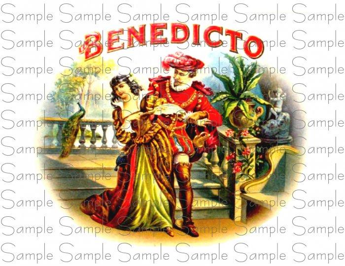 Vintage Benedicto Digital Cigar Art Ephemera Scrapbooking Altered Art