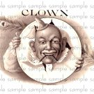 Clown Digital Vintage Cigar Art Ephemera Scrapbooking Altered Art