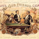 Club Friends Digital Vintage Cigar Art Ephemera Scrapbooking Altered Art