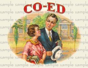Co-Ed Digital Vintage Cigar Art Ephemera Scrapbooking Altered Art
