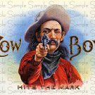 Cowboy Digital Vintage Cigar Art Ephemera Scrapbooking Altered Art