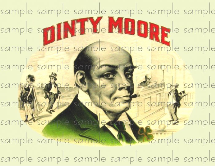 Dinty Moore Digital Vintage Cigar Art Ephemera Scrapbooking Altered Art
