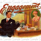 Engagement Digital Vintage Cigar Art Ephemera Scrapbooking Altered Art