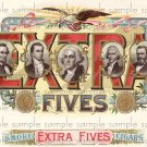 Extra Five Digital Vintage Cigar Art Ephemera Scrapbooking Altered Art