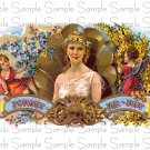 Forget Me not Vintage Digital Cigar Box Art Ephemera Scrapbooking Altered Art