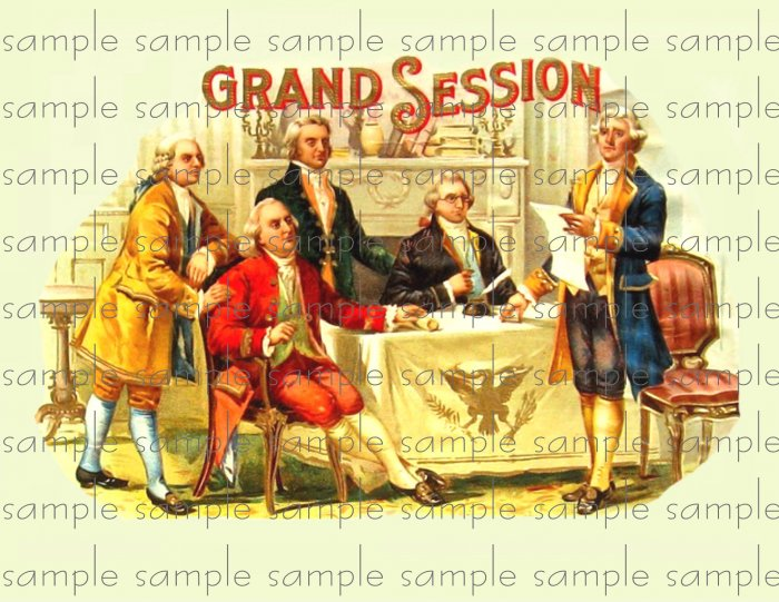 Grand Sesson Vintage Digital Cigar Box Art Ephemera Scrapbooking Altered Art