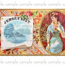 Jersey Lily Vintage Digital Cigar Box Art Ephemera Scrapbooking Altered Art