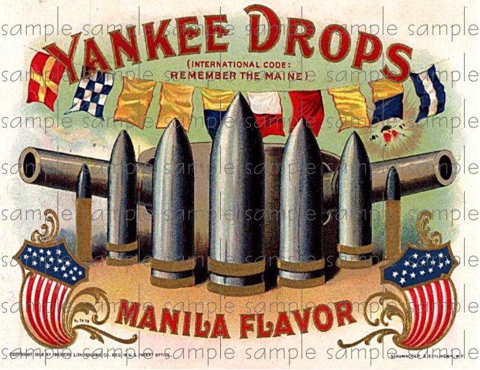 Yankee Drops Vintage Digital Cigar Box Art Ephemera Scrapbooking Altered Art Decoupage