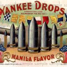 Yankee Drops Vintage Digital Cigar Box Art Ephemera Scrapbooking Altered Art Decoupage