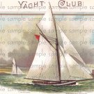 Yacht Club Vintage Digital Cigar Box Art Ephemera Scrapbooking Altered Art Decoupage