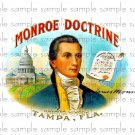 Monroe Doctrine Vintage Digital Cigar Box Art Ephemera Scrapbooking Altered Art Decoupage
