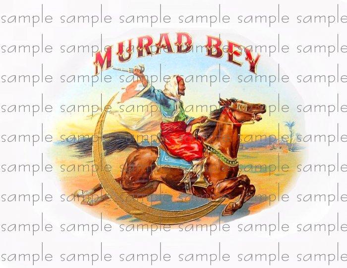 Murad Bey Vintage Digital Cigar Box Art Ephemera Scrapbooking Altered Art Decoupage