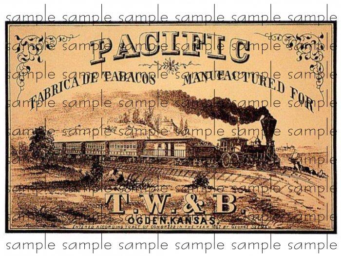 Pacific Vintage Digital Cigar Box Art Ephemera Scrapbooking Altered Art Decoupage