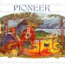 Pioneer Vintage Digital Cigar Box Art Ephemera Scrapbooking Altered Art Decoupage