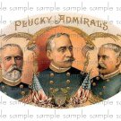 Plucky Admirals Vintage Digital Cigar Box Art Ephemera Scrapbooking Altered Art Decoupage