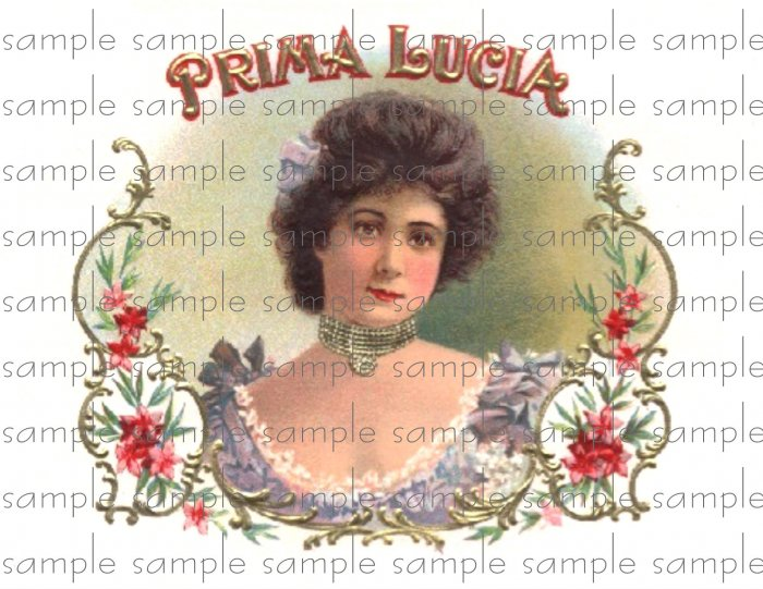 Prima Lucia Vintage Digital Cigar Box Art Ephemera Scrapbooking Altered Art Decoupage
