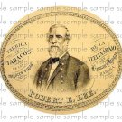 Robert E Lee Vintage Digital Cigar Box Art Ephemera Scrapbooking Altered Art Decoupage