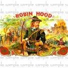Robin Hood Vintage Digital Cigar Box Art Ephemera Scrapbooking Altered Art Decoupage