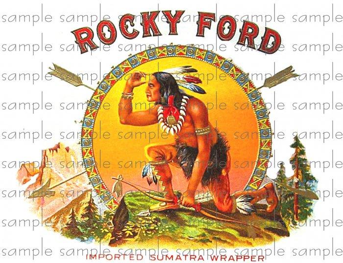 Rocky Ford Vintage Digital Cigar Box Art Ephemera Scrapbooking Altered Art Decoupage