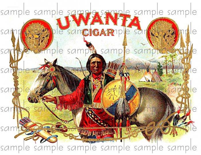 Uwanta Vintage Digital Cigar Box Art Ephemera Scrapbooking Altered Art Decoupage