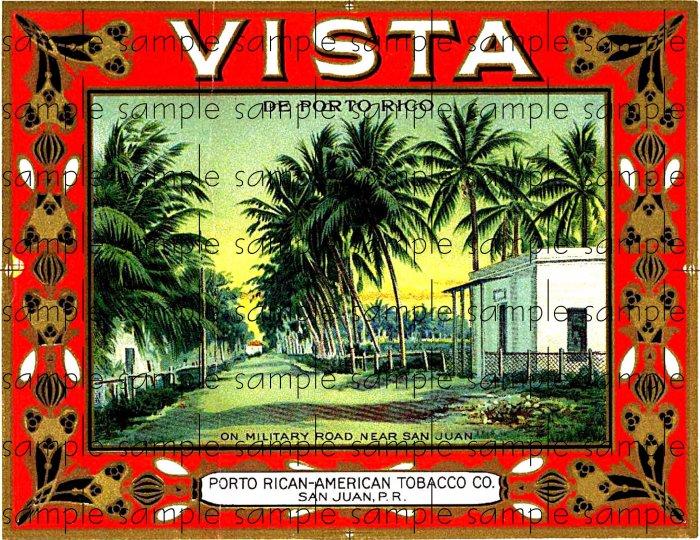 Vista Vintage Digital Cigar Box Art Ephemera Scrapbooking Altered Art Decoupage