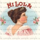 Mi Lola Digital Cigar Box Art Ephemera Scrapbooking Altered Art Decoupage