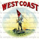 West Coast Cigar Box Art Ephemera Scrapbooking Altered Art Decoupage
