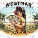 Westmar Cigar Box Art Ephemera Scrapbooking Altered Art Decoupage