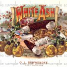 White Ash Cigar Box Art Ephemera Scrapbooking Altered Art Decoupage