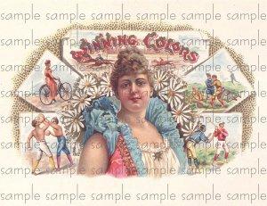 Winning Colors Cigar Box Art Ephemera Scrapbooking Altered Art Decoupage
