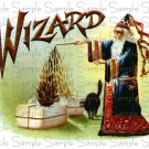 WIZARD Cigar Box Art Ephemera Scrapbooking Altered Art Decoupage