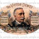 Victor Dewey Cigar Box Art Ephemera Scrapbooking Altered Art Decoupage