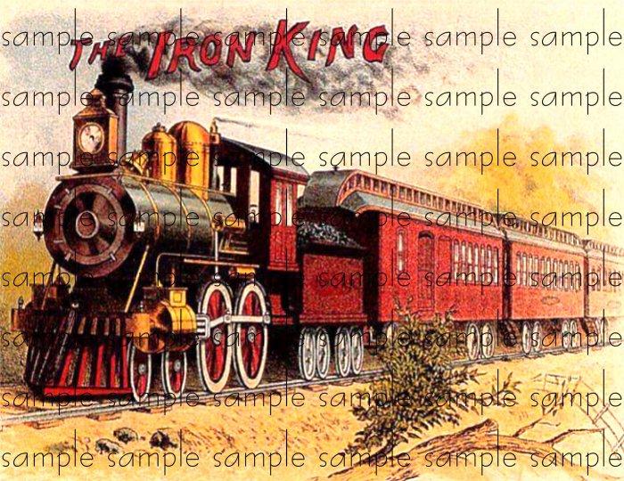 Iron King Cigar Box Art Ephemera Scrapbooking Altered Art Decoupage
