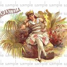 Tarantella Cigar Box Art Ephemera Scrapbooking Altered Art Decoupage