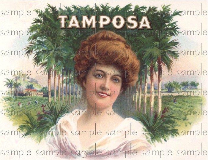 Tamposa Cigar Box Art Ephemera Scrapbooking Altered Art Decoupage