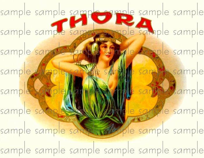 Thora Cigar Box Art Ephemera Scrapbooking Altered Art Decoupage