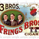 Three Bros Fring Bros Cigar Box Art Ephemera Scrapbooking Altered Art Decoupage