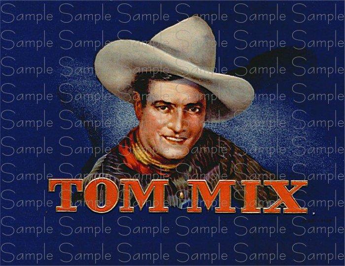 Tom Mix Cigar Box Art Ephemera Scrapbooking Altered Art Decoupage
