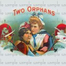 Two Orphans Cigar Box Art Ephemera Scrapbooking Altered Art Decoupage