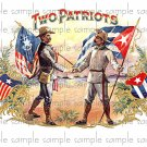 Two Patriots Cigar Box Art Ephemera Scrapbooking Altered Art Decoupage